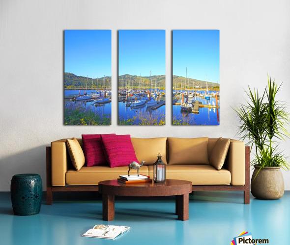 Perfect Day at Hood River Marina   Oregon Split Canvas print