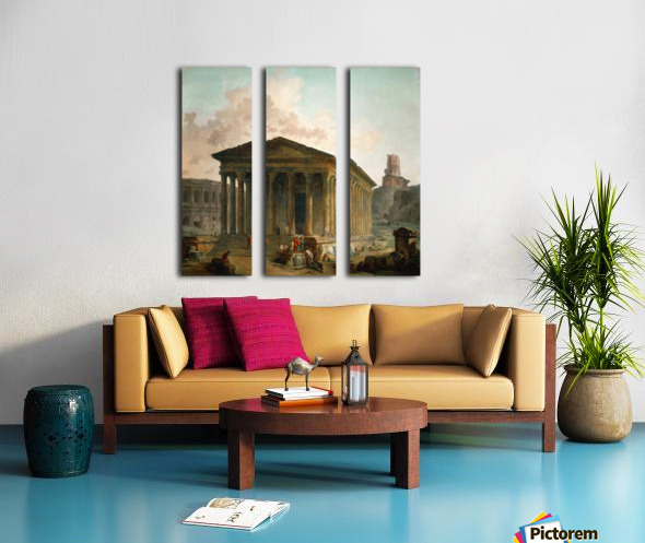 Antic ruins with figures Split Canvas print