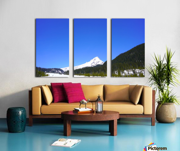 Clear Day in the Mountains - Mount Hood  - Oregon Split Canvas print