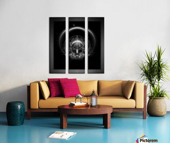 Gothic Skull Blaze Abstract Digital Art Composition Split Canvas print