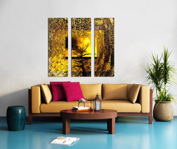 Tree Layers 7 Split Canvas print