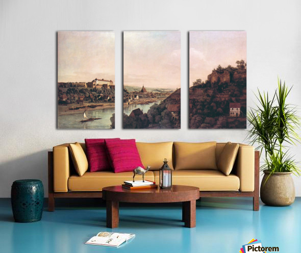 View of Pirna -1- by Canaletto Split Canvas print