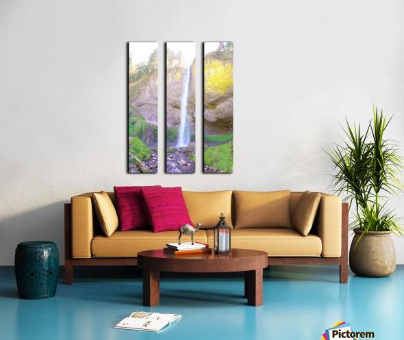 Majestic Falls in the Gorge   Columbia River Oregon Split Canvas print