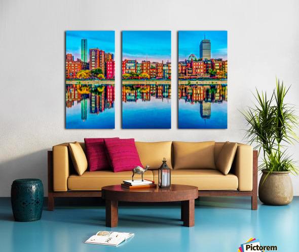 Boston Back Bay reflection Split Canvas print