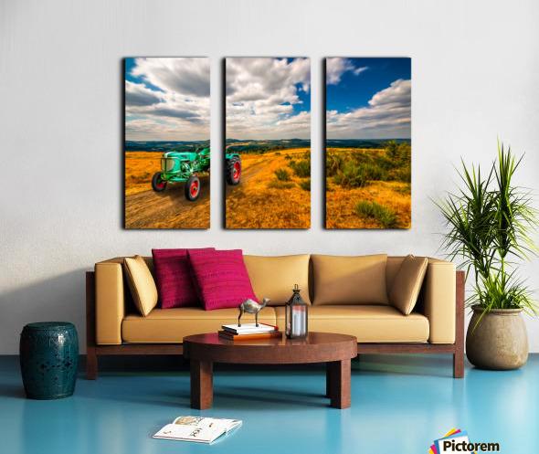 My Green Tractor Split Canvas print
