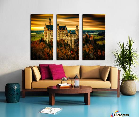 Fairytale Castle Split Canvas print