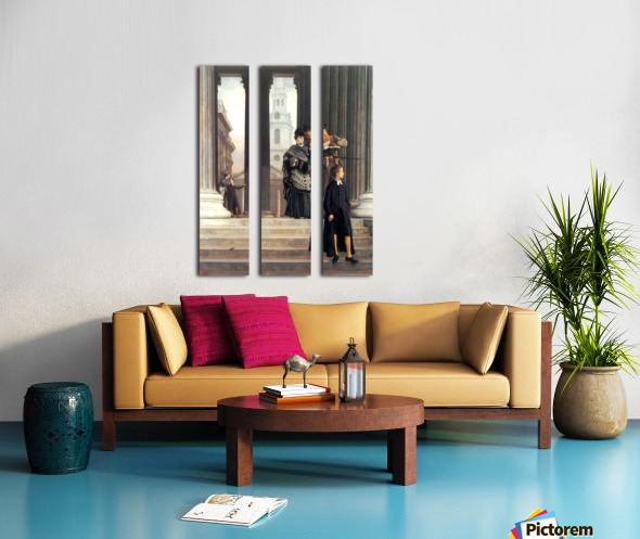 Visitors in London by Tissot Split Canvas print