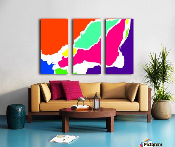 Montreal Map WBG  Split Canvas print