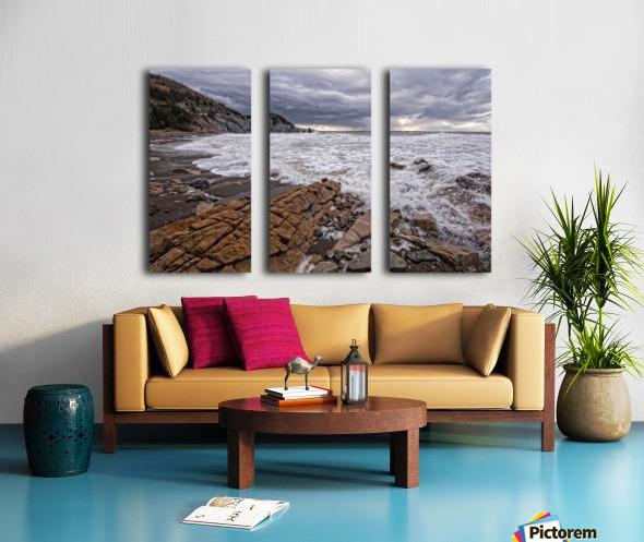 Surf at Pillar Rock Split Canvas print