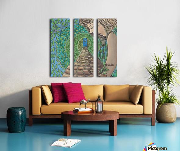The Growing Garden Split Canvas print