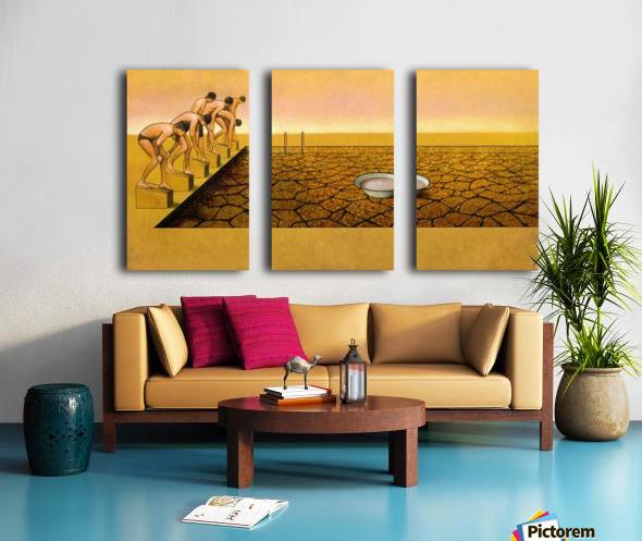 Pool Split Canvas print