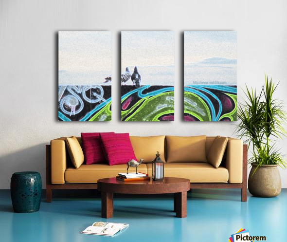 Love Birds Split Canvas print