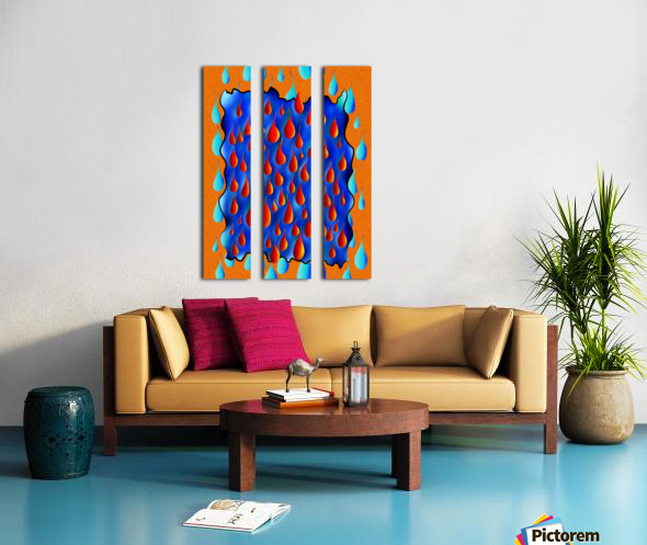 Greoforio V4 - abstract digital artwork Split Canvas print