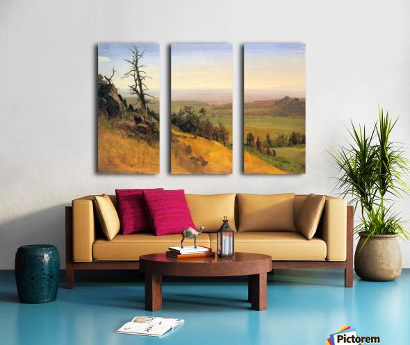 Wasatch Mountains Nebraska by Bierstadt Split Canvas print