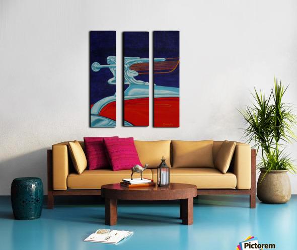 art deco car Split Canvas print
