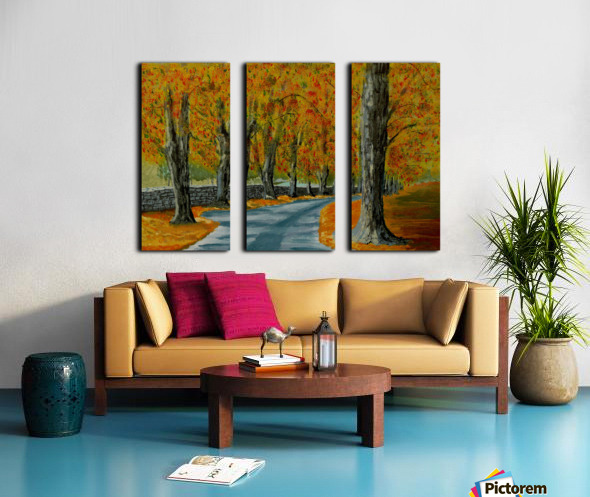 Autumns Pathway Split Canvas print