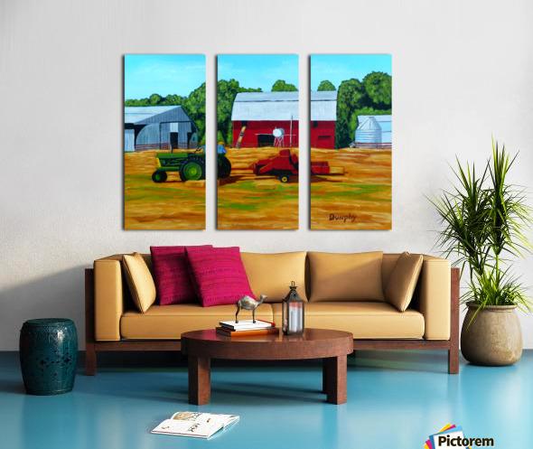 Bailing Hay Split Canvas print