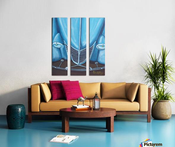 Blue 32  Split Canvas print