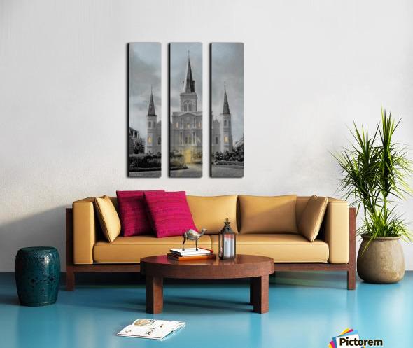 St Louis Cathedral - New Orleans Split Canvas print