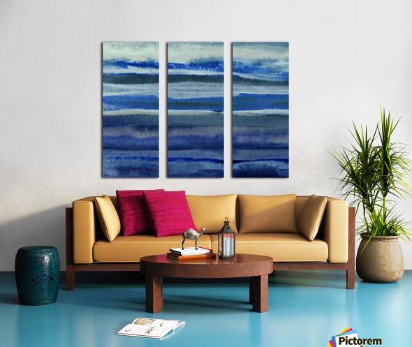 Ocean And Sea Beach Coastal Art Organic Watercolor Abstract Lines III Split Canvas print