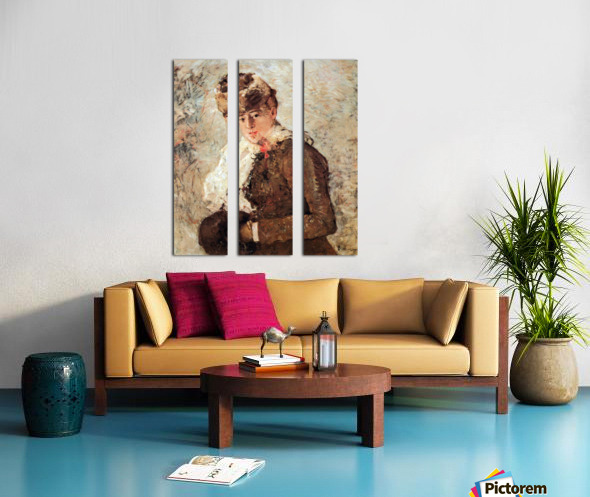 Winter (woman with Muff) by Morisot Split Canvas print