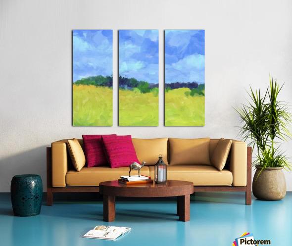 Parkton Landscape in Spring Green Split Canvas print