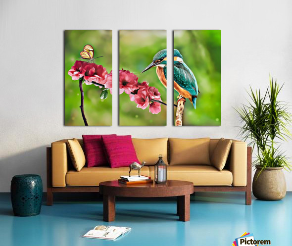 A Spring Friendship Split Canvas print