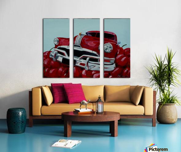 Cherry Ride Split Canvas print