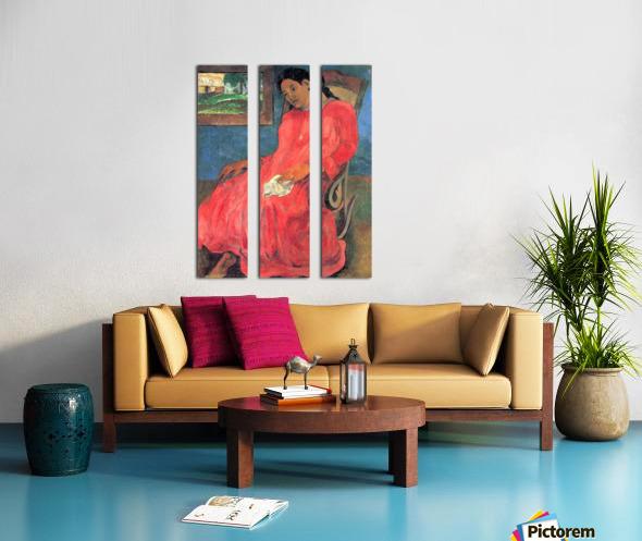 Woman in Red Dress by Gauguin Split Canvas print