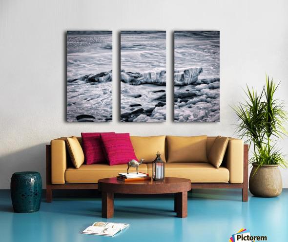 Ice Blue Split Canvas print
