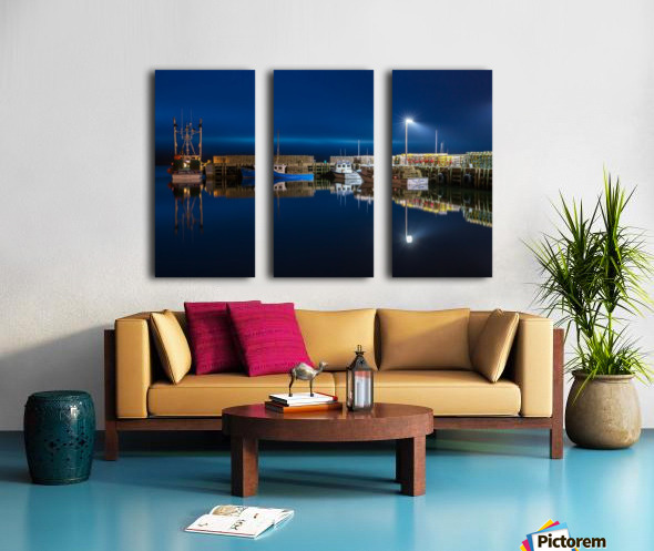 Night Time at the Wharf Split Canvas print