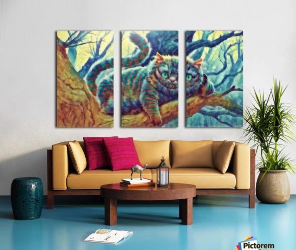 Cheshire Cat  Split Canvas print