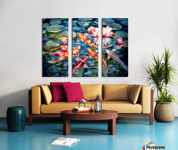 Koi Pond Split Canvas print