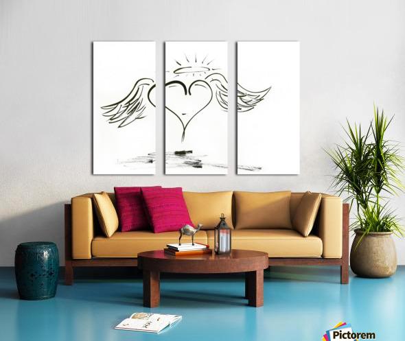 2020 heart angel Split Canvas print