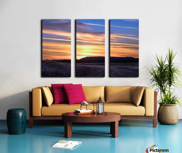 Table Top Mountain Sunset Split Canvas print