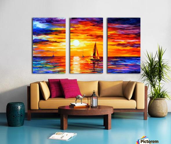 Open Water Split Canvas print