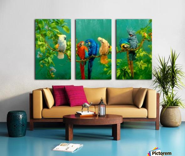 Birds Of Paradise  Split Canvas print