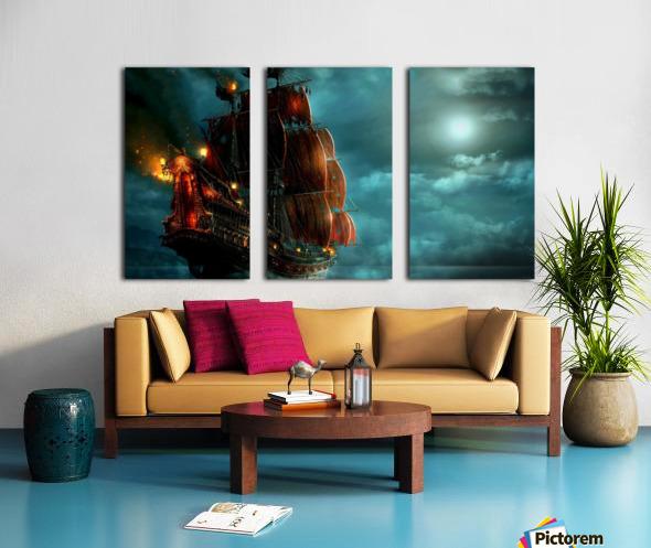 Pirate Ship  Split Canvas print