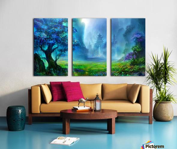 Blue Ravine Split Canvas print