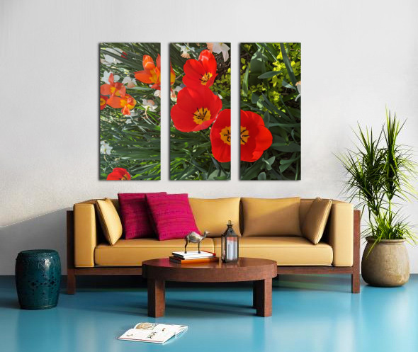 The Flower Family Split Canvas print