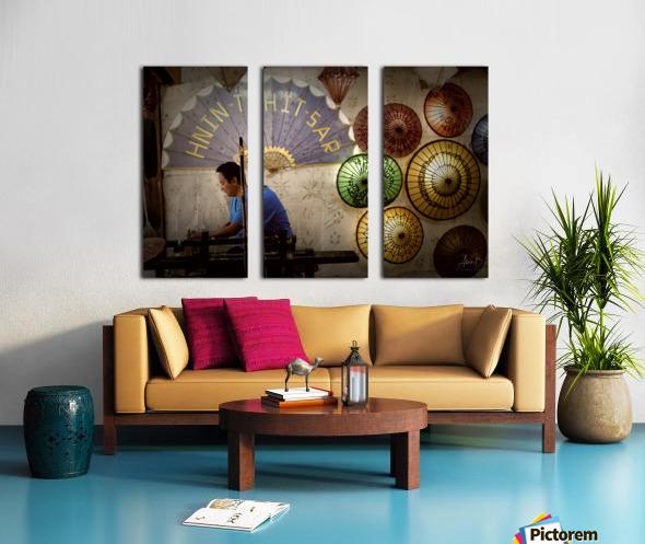 Umbrella maker Split Canvas print