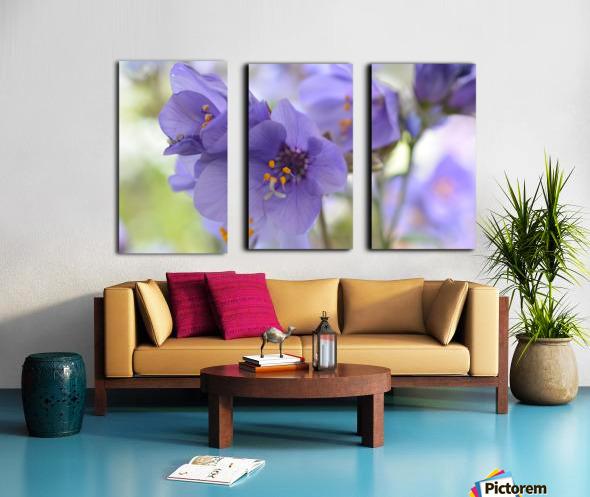 Blue Floral Photograph Split Canvas print