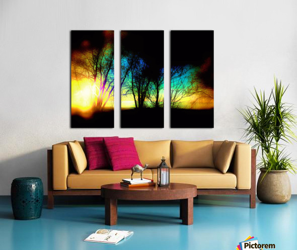 Evening tree Split Canvas print