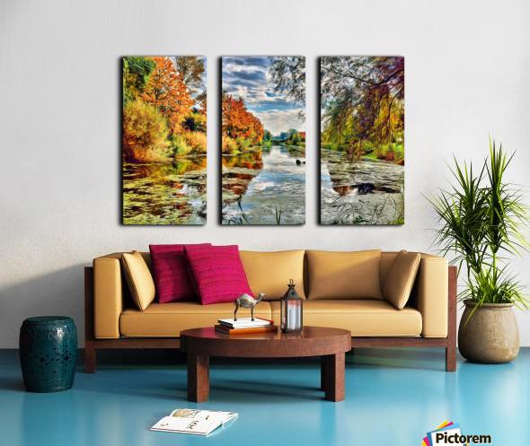 Autumn River Split Canvas print