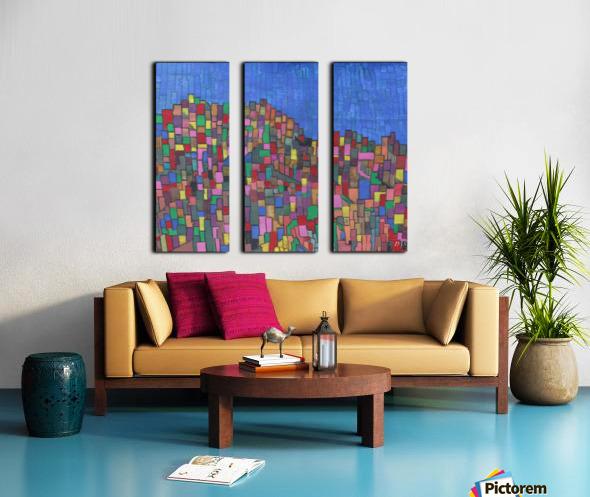 colorfulbuildings Split Canvas print