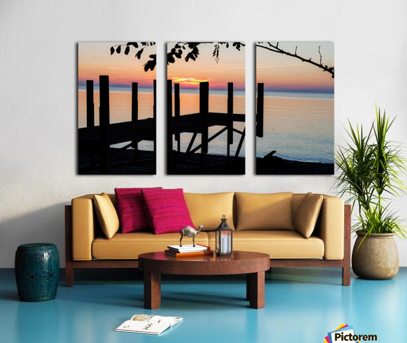Lake Erie Doc Split Canvas print