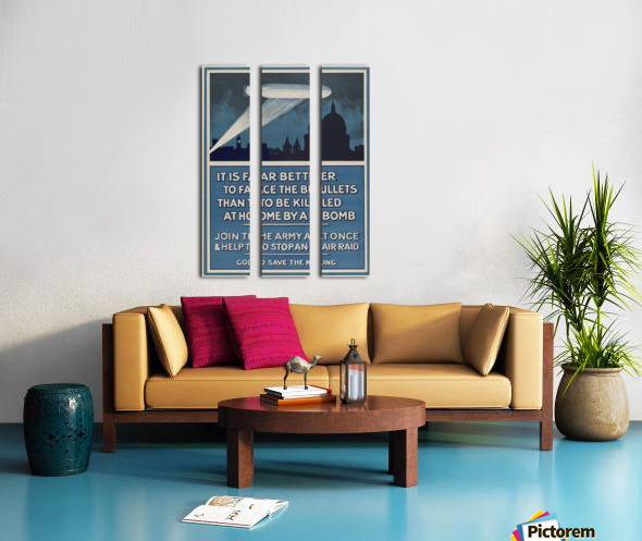 World War I poster Split Canvas print