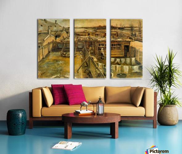 Workshop by Van Gogh Split Canvas print