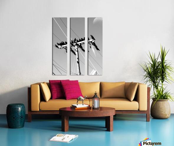 Birds on a wire Split Canvas print
