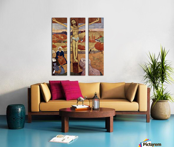 Yellow Christ by Gauguin Split Canvas print